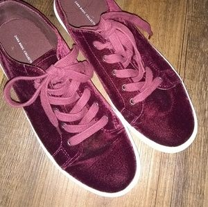 Zara basic collection velvet chunky sneakers